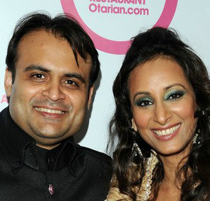 Pankaj and Radhika Oswal at the launch of Radhika's vegetarian restaurant chain Otarian.